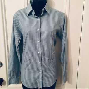 Brooks Brothers 100% Cotton Blue and White Shirt